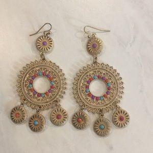 Tiered Moroccan earrings.
